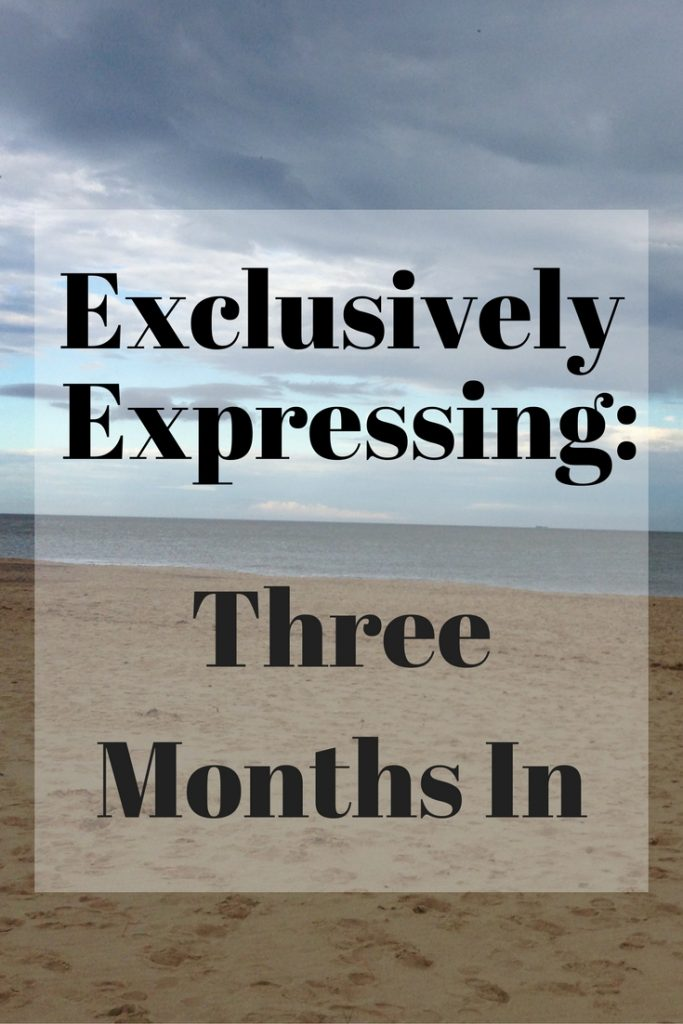 Exclusively expressing after three months