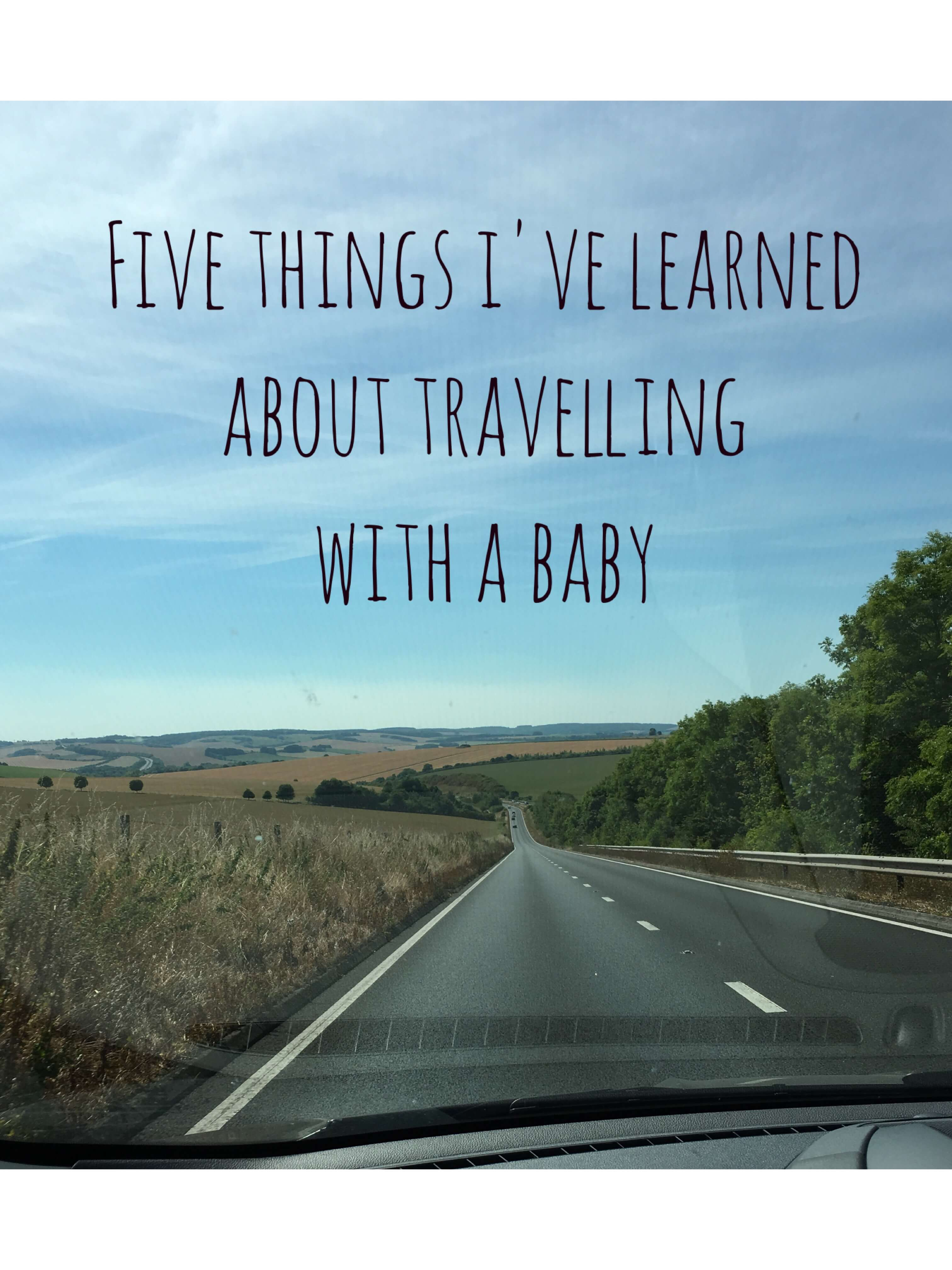 travelling with a baby, car journey with baby, vacation with baby, car journey baby three months