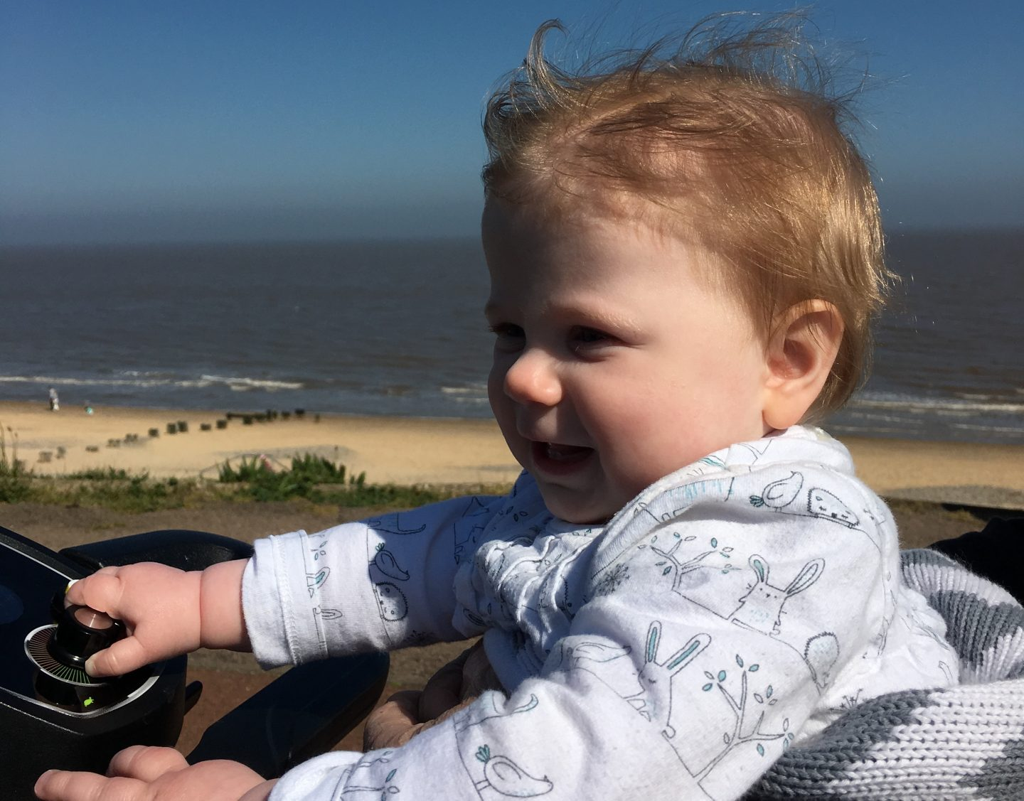 Little M at the beach