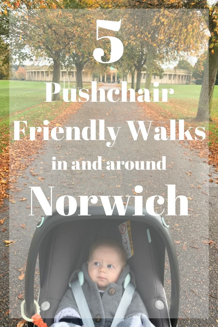 Five puschair friendly walks Norwich, 5 accessible walks Norwich