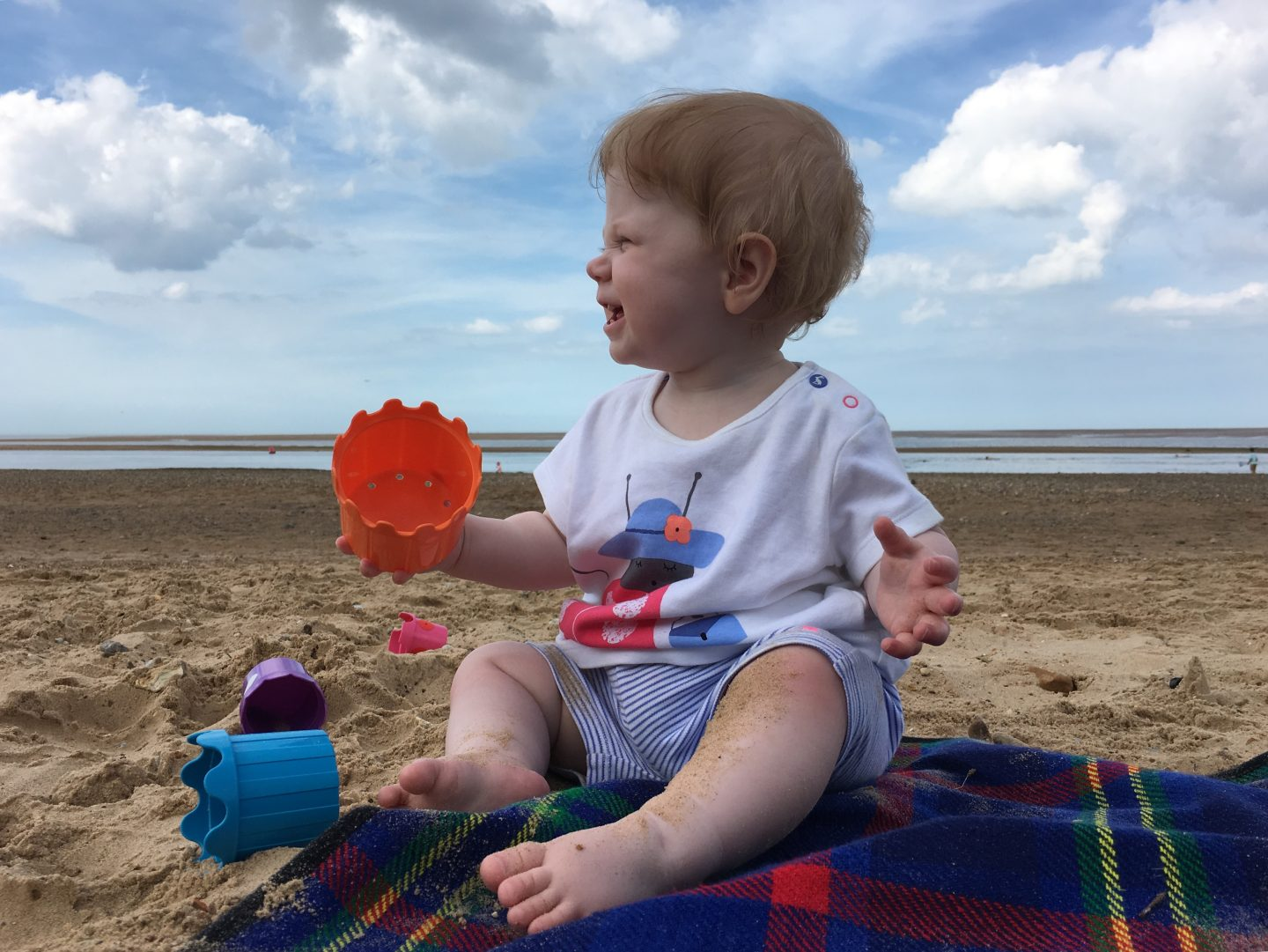 Little M at the beach, baby at Wells beach, wells-next-the-sea, Norfolk beach