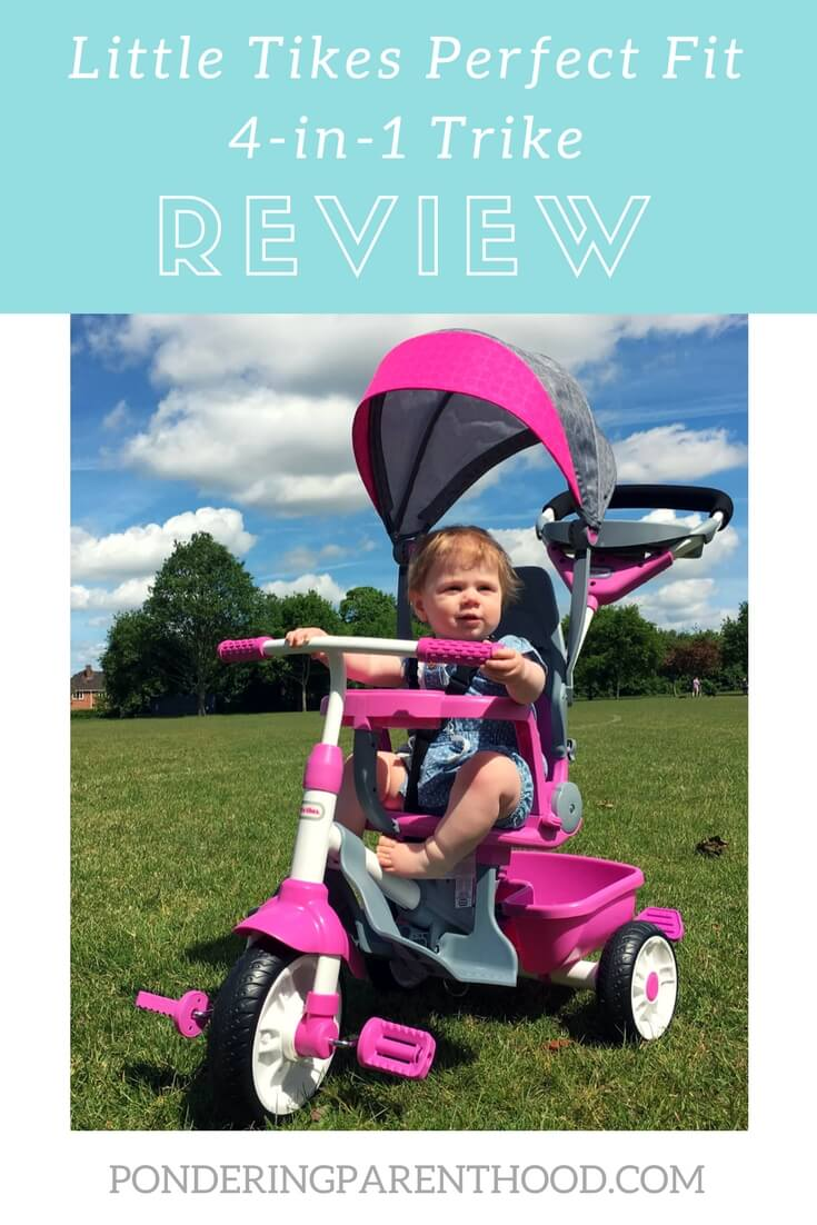 An honest review of the Little Tikes Perfect Fit 4 in 1 Trike. Suitable from 9 months to 5 years. Perfect toddler gift!