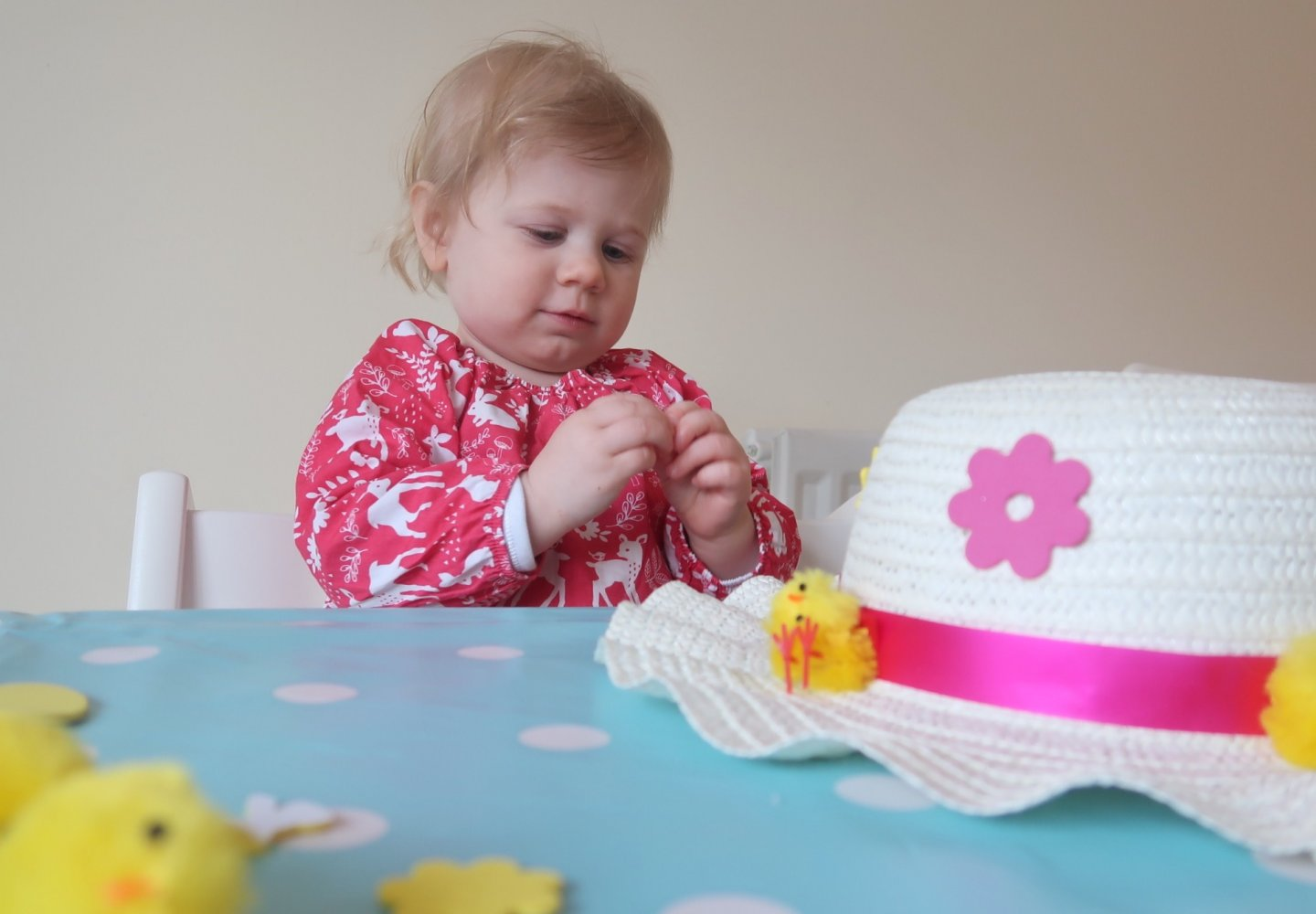 Development of fine motor skills through Easter bonnet making