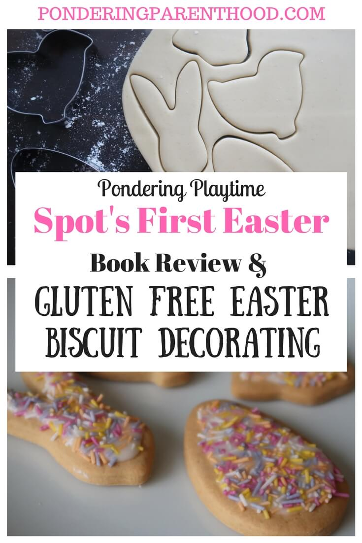 A fun gluten free Easter biscuit decorating activity to go with Eric Hill's lift-the-flat book, Spot's First Easter