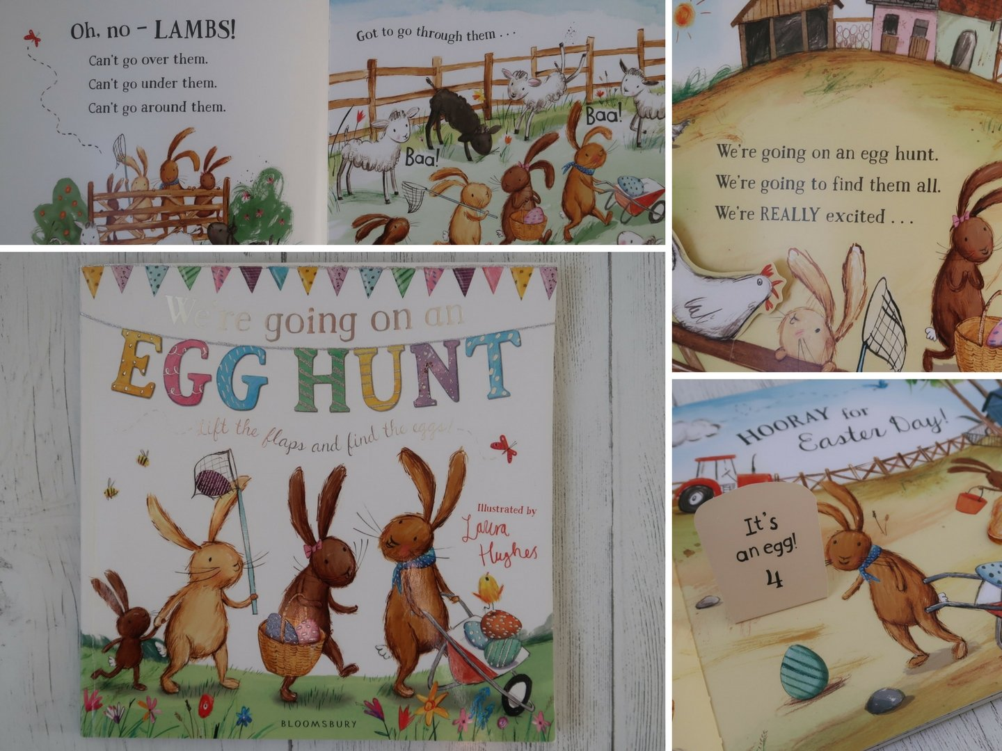 We're going on an Egg hunt Easter children's picture book.