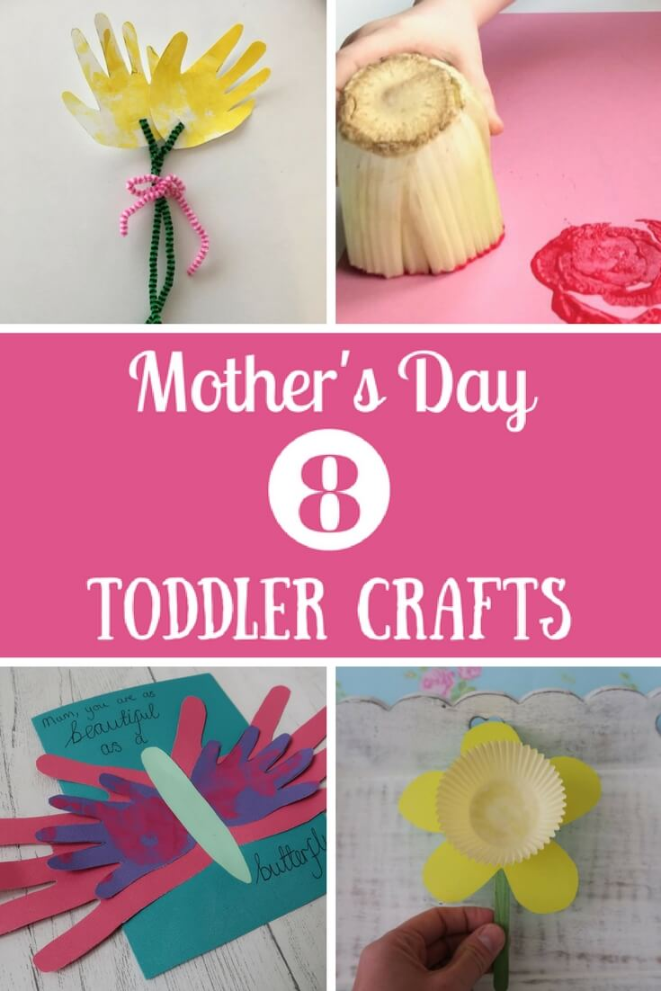 Fun, quick and easy Mother's Day crafts to do with your toddler.