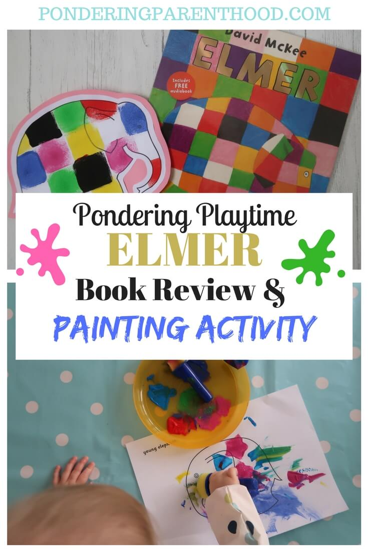 FREE Elmer printable and EYFS print painting activity