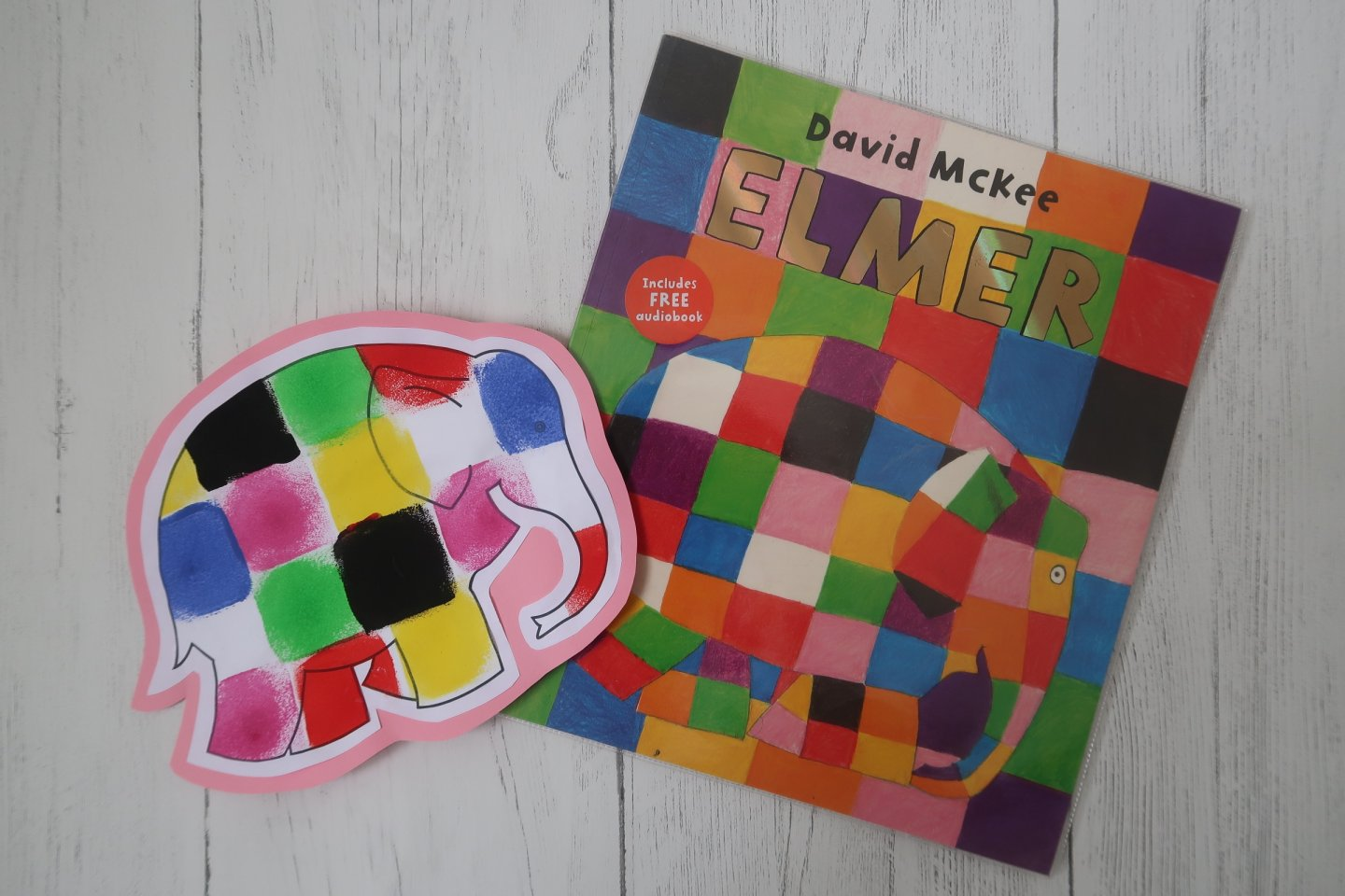 Pondering Playtime // Elmer Book Review and Painting Activity