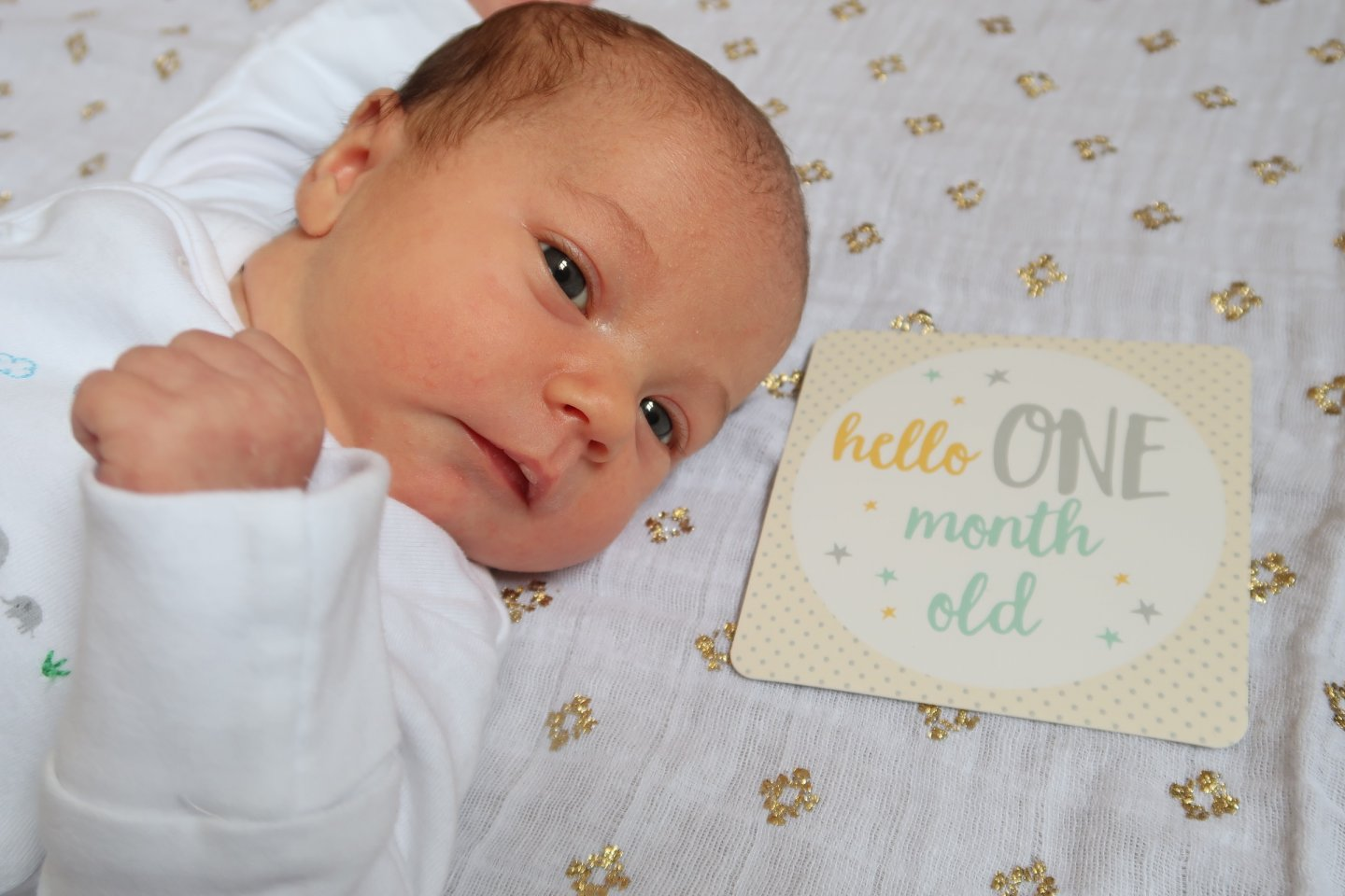 B at one month old