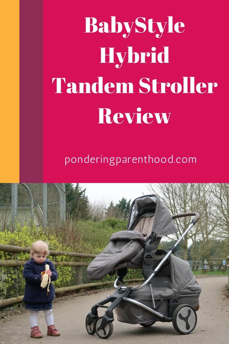 Hybrid Tandem Stroller Review - A review of the lightweight double pushchair that is the Hybrid Tandem Stroller by BabyStyle