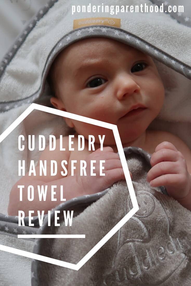 A review of the Cuddledry handsfree baby towel - perfect for newborn bath times.