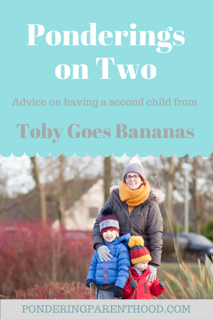 Advice on parenting two boys with a two year age gap from Sarah, who blogs at Toby Goes Bananas.