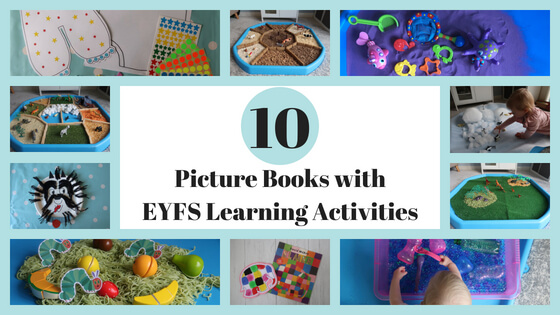 10 picture books with related EYFS play and learning activities