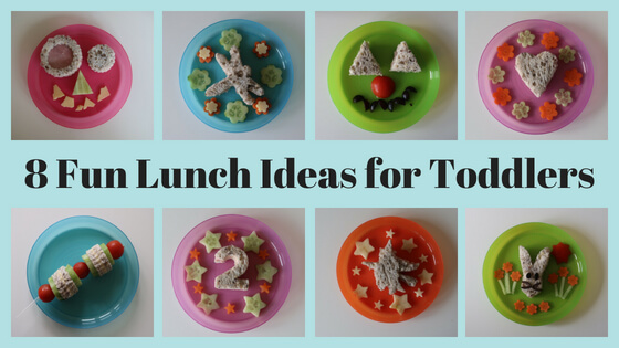 Eight quick, easy and fun ideas for toddler lunches at home.