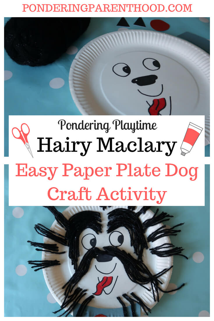 An easy-to-make Hairy Maclary EYFS paper plate craft activity. Really simple and cheap to make.