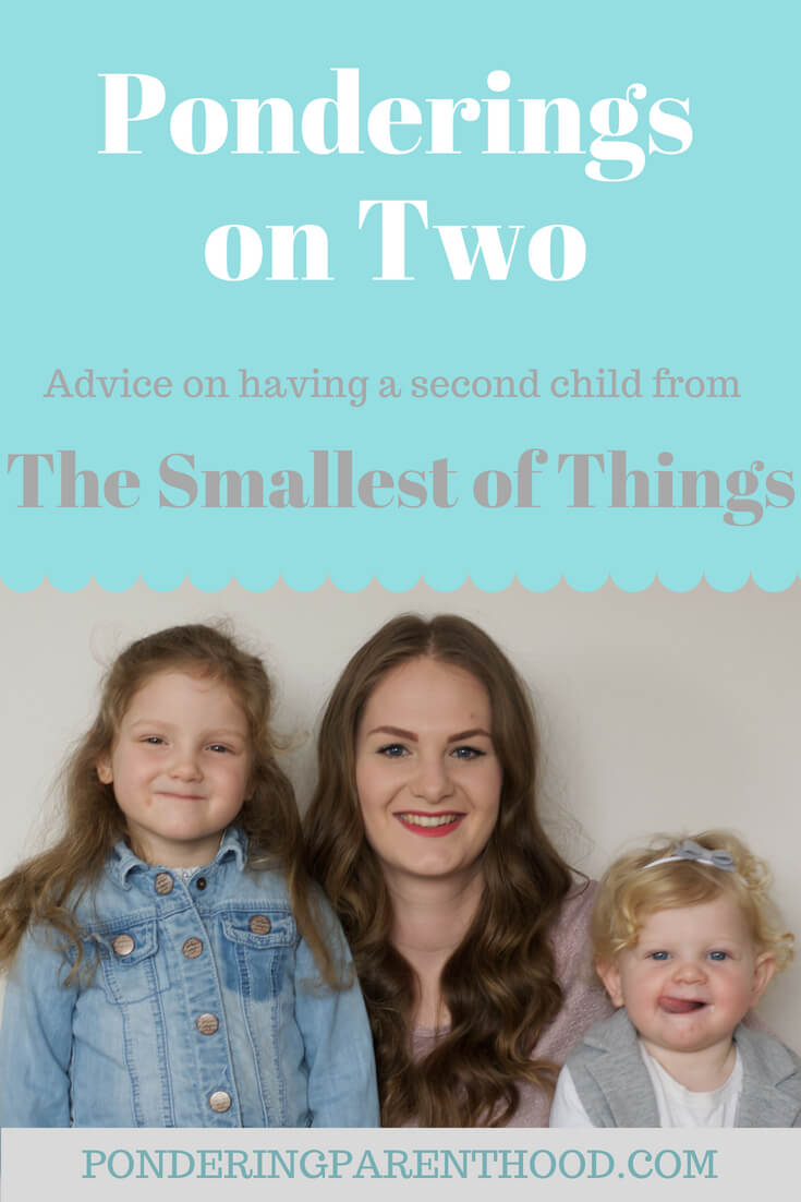 Amy from The Smallest of Things talks about the 2.5 year age gap between her two daughters, and gives advice to parents expecting their second child.