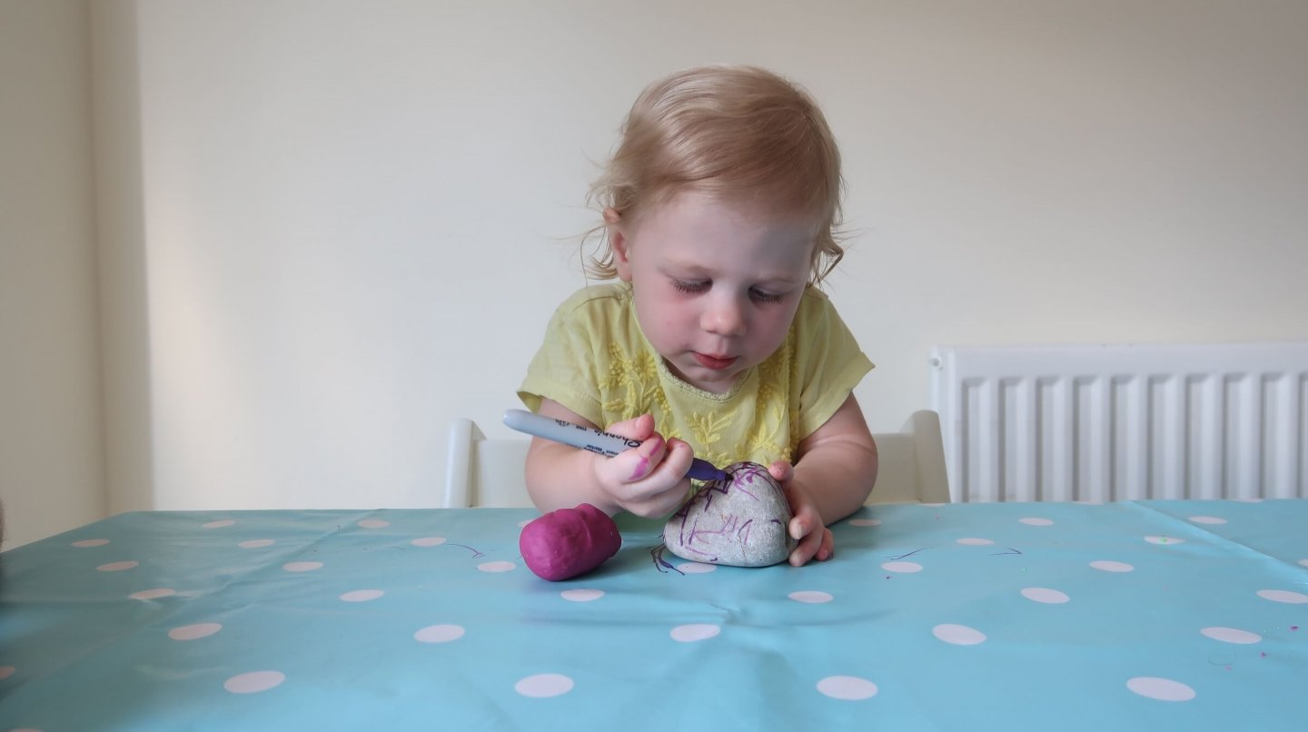 EYFS easy rock painting with pens