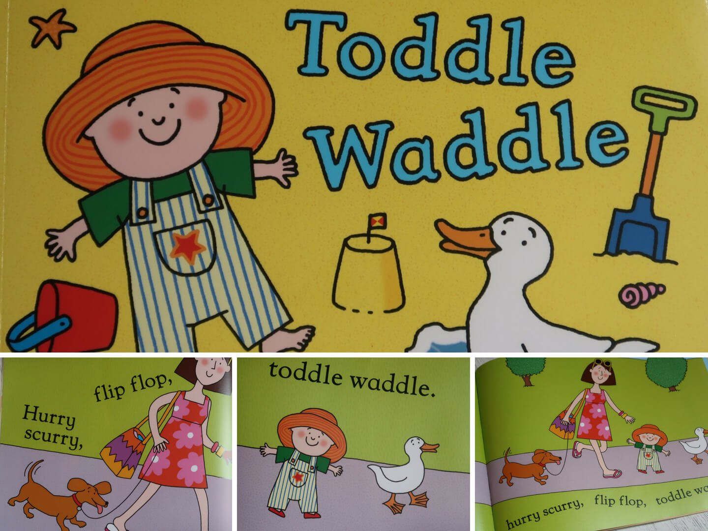 Toddle Waddle by Julia Donaldson Beach Themed Tuff Spot Activity