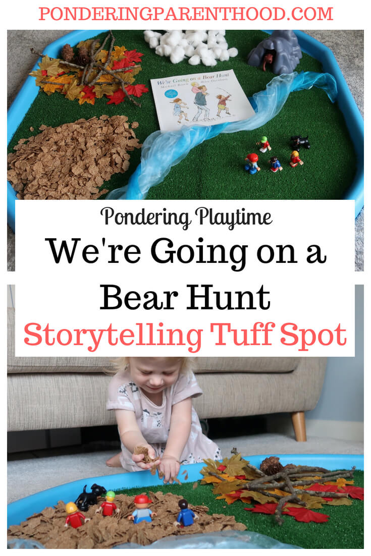 We're Going on a Bear Hunt sensory tuff spot - A sensory storytelling tuff spot to go with Michael Rosen's book, We're Going on a Bear Hunt.