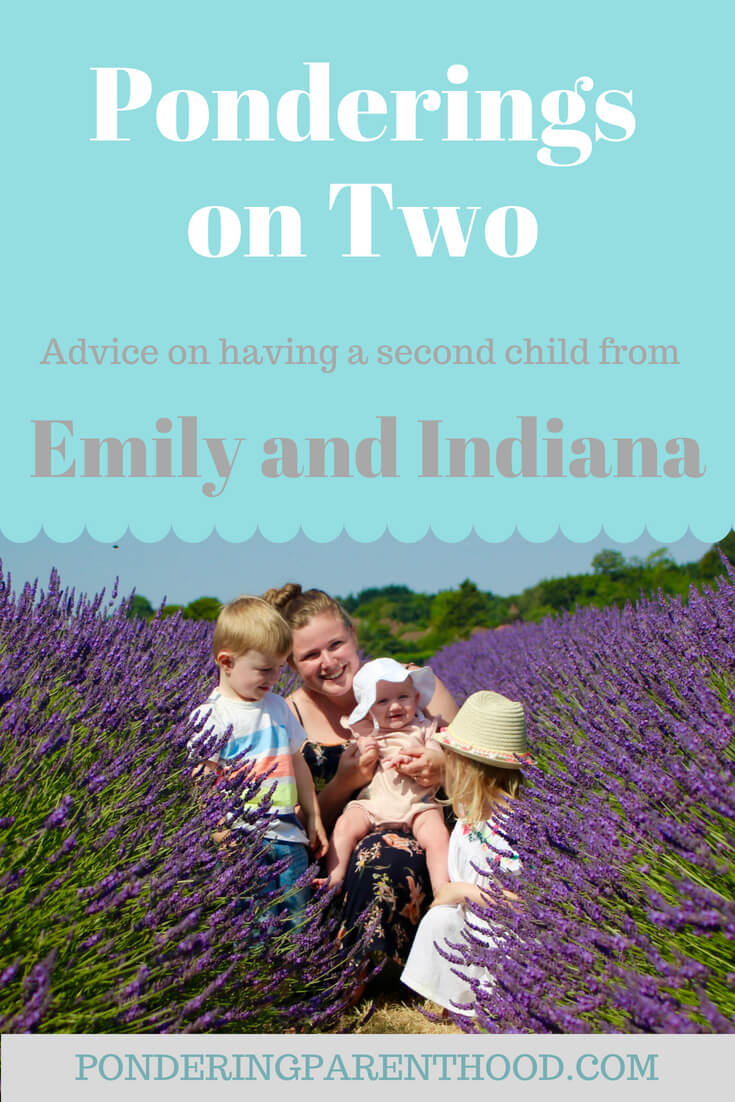 Emily from Emily and Indiana writes about having two under two - advice and must-have items for coping with a second child.