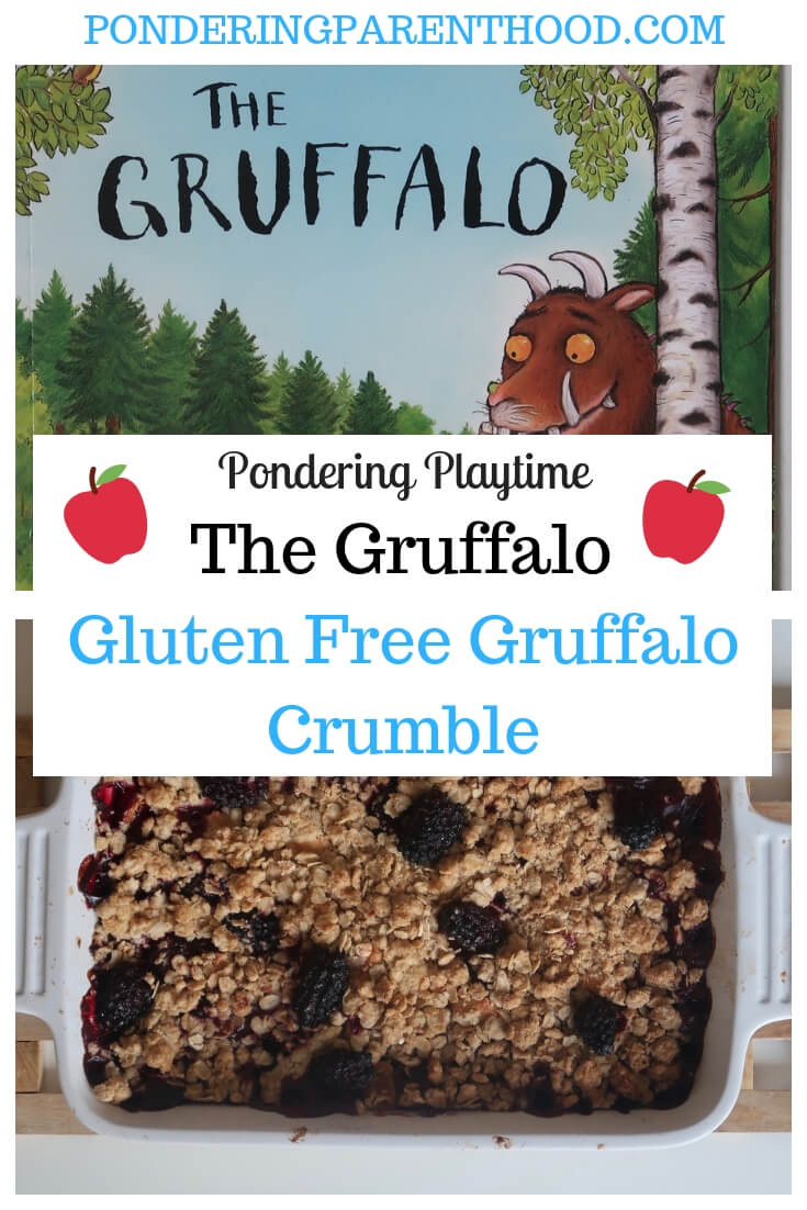 Gluten Free Gruffalo Crumble Recipe - Cooking with Toddlers