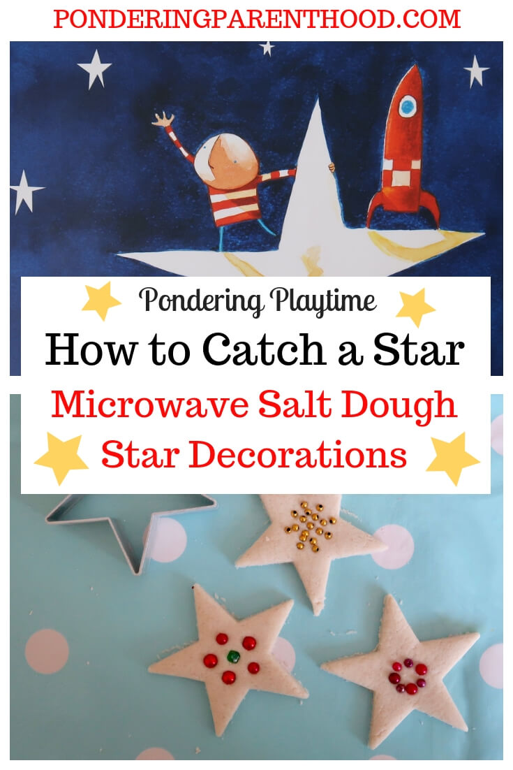 Microwave Salt Dough Star Decorations inspired by How to Catch a Star by Oliver Jeffers
