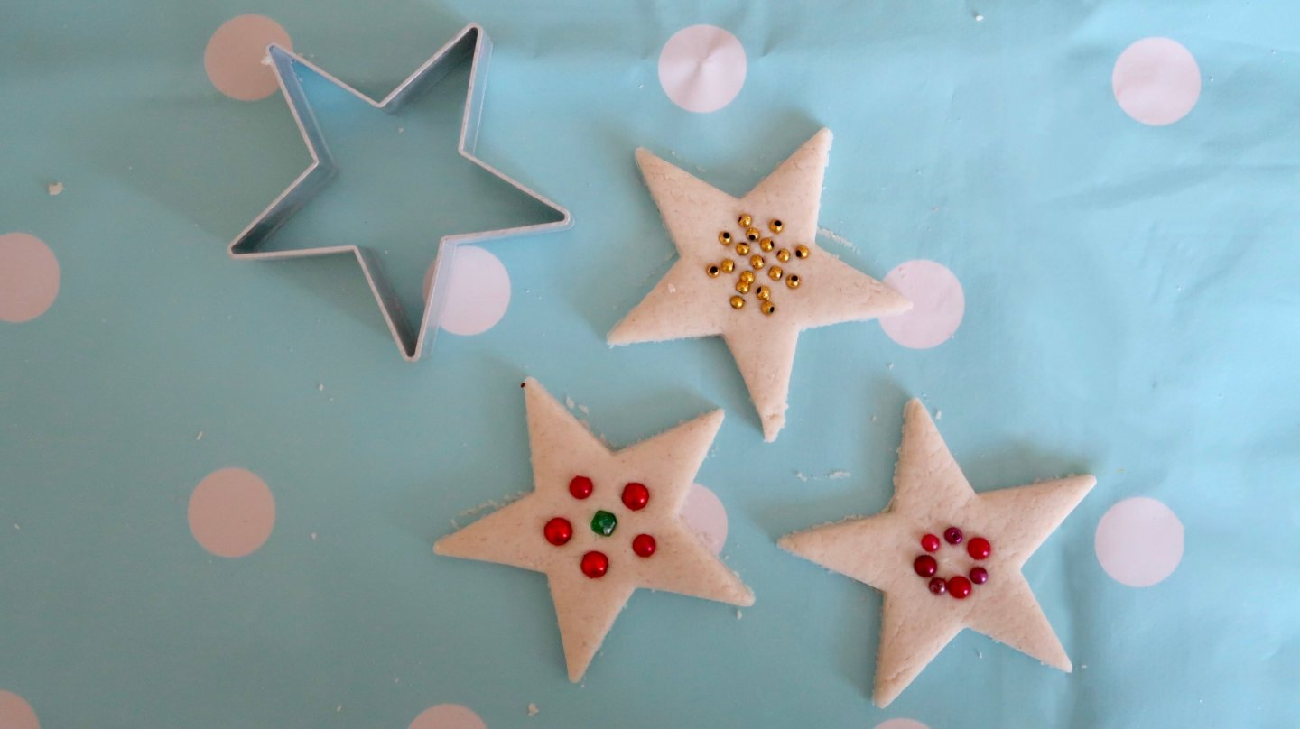 Microwave Salt Dough Star Decorations