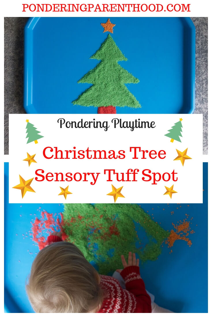An Easy Christmas Tree Tuff Spot Sensory Activity and DIY Rice Dyeing Tutorial