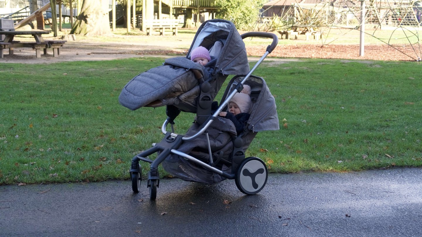 Hybrid Tandem Stroller with two toddler seats