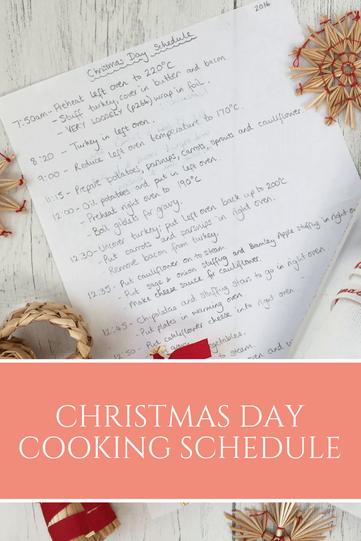 Stressing about cooking for the whole family on Christmas Day? Download my Christmas Day cooking schedule!