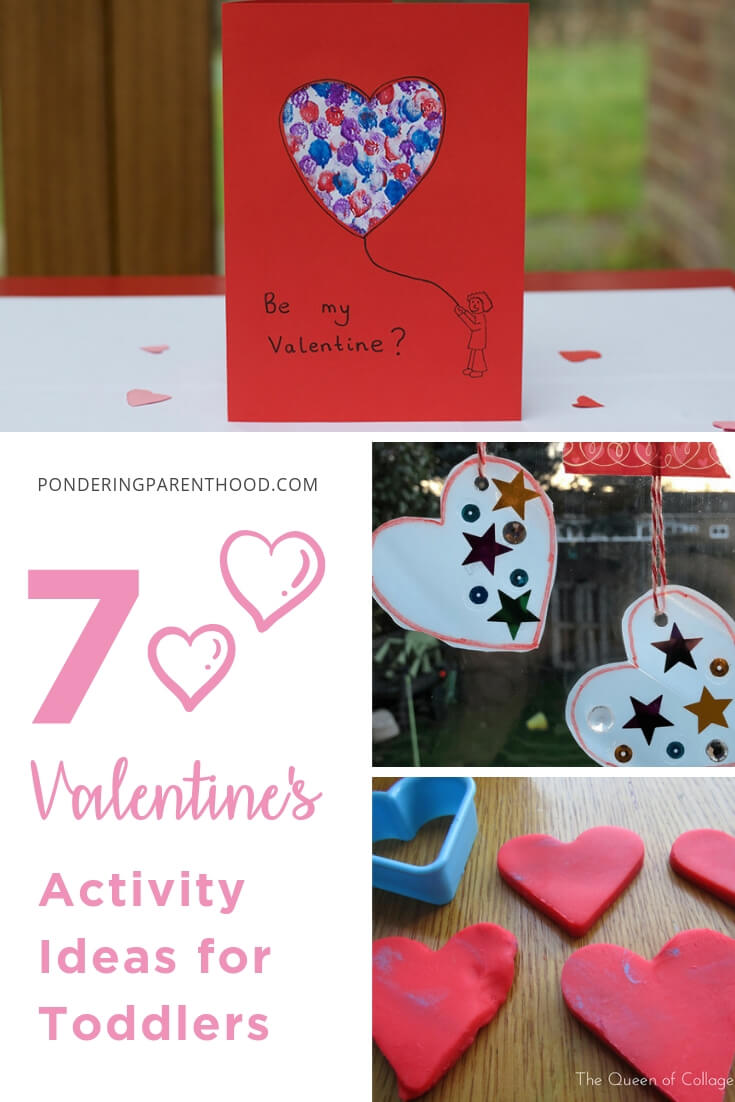 Looking for toddler activities linked to Valentine's Day? Look no further! Here are 7 Valentine's crafts and activities for toddlers. #EYFSactivities