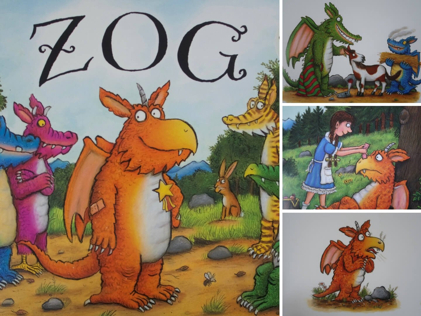 Zog by Julia Donaldson - Sticker by Numbers EYFS activity
