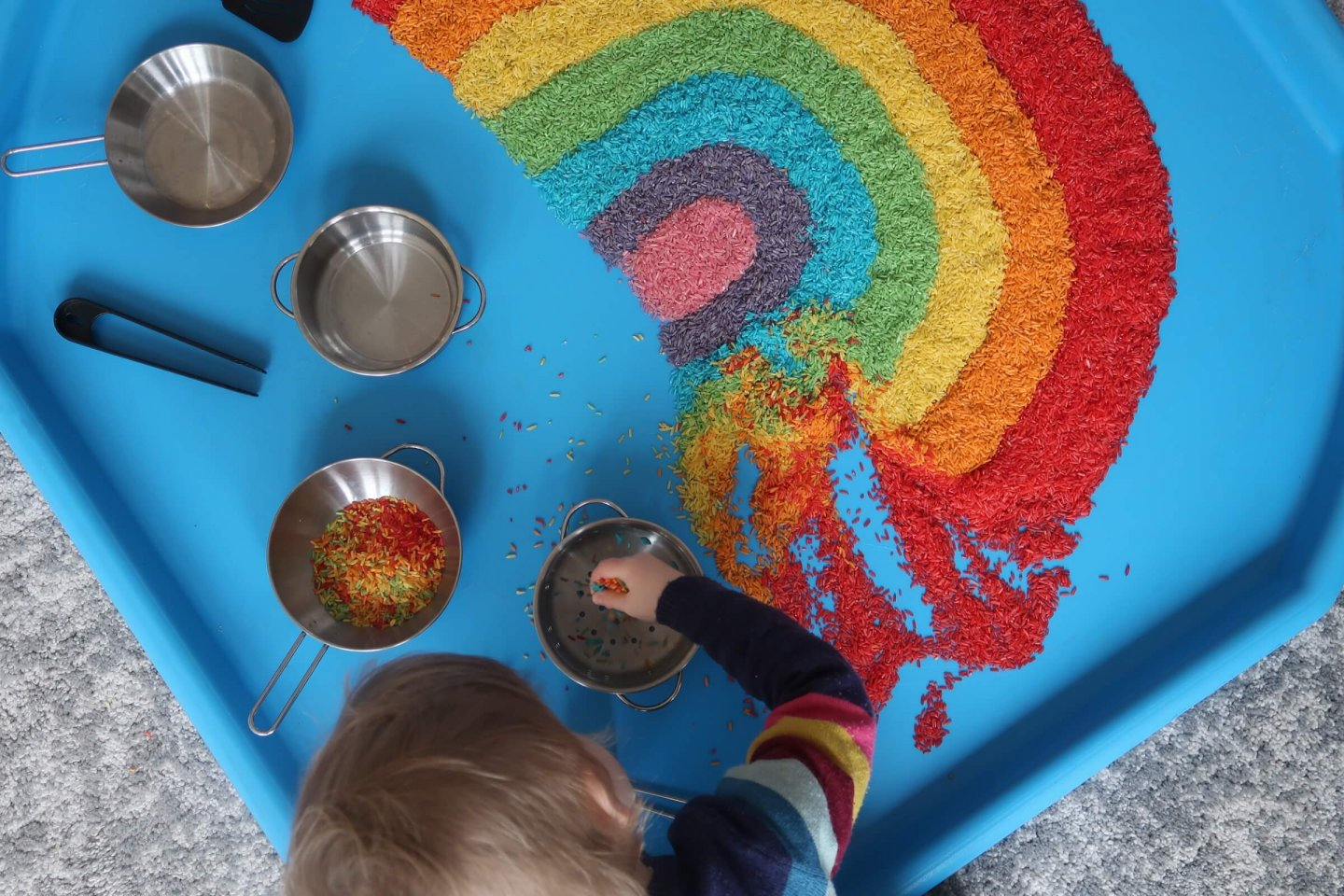 Rainbow rice tuff spot activity.