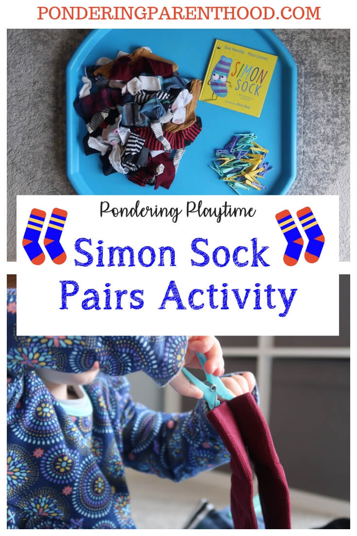 A fun EYFS matching pairs activity linked to Simon Sock by Sue Hendra and Paul Linnet. Develop fine motor skills by pegging pairs of socks!
