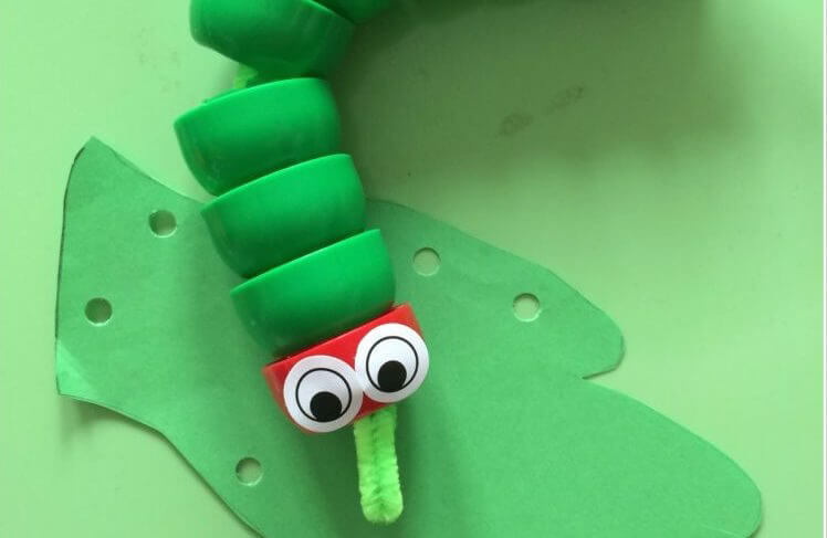 The Very Hungry Caterpillar threading activity