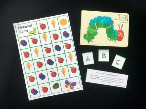 The Very Hungry Caterpillar Alphabet Game