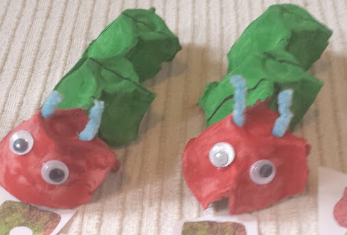 The Very Hungry Caterpillar Eggbox Craft