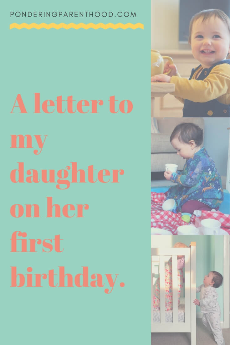 I've written a letter to my youngest daughter, on the eve of her first birthday.